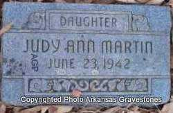 MARTIN, JUDY ANN - Scott County, Arkansas | JUDY ANN MARTIN - Arkansas Gravestone Photos