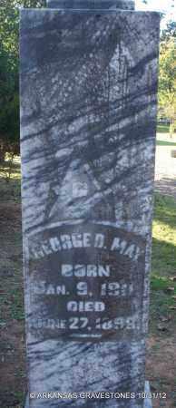 MAY, GEORGE D - Scott County, Arkansas | GEORGE D MAY - Arkansas Gravestone Photos