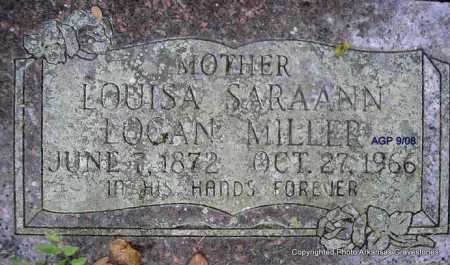 MILLER, LOUISA SARA ANN - Scott County, Arkansas | LOUISA SARA ANN MILLER - Arkansas Gravestone Photos