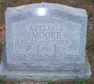 MOORE, ADELIA T - Scott County, Arkansas | ADELIA T MOORE - Arkansas Gravestone Photos