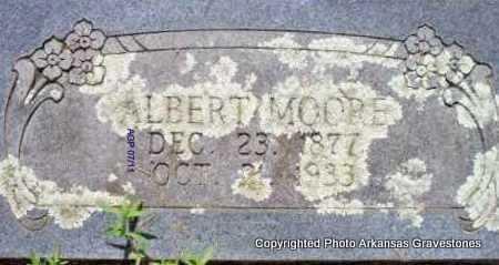 MOORE, ALBERT - Scott County, Arkansas | ALBERT MOORE - Arkansas Gravestone Photos