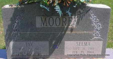 MOORE, FAY - Scott County, Arkansas | FAY MOORE - Arkansas Gravestone Photos
