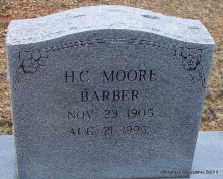 "MOORE, H C ""BARBER"" - Scott County, Arkansas   H C ""BARBER"" MOORE - Arkansas Gravestone Photos"