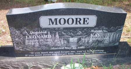 MOORE, LEONARD - Scott County, Arkansas   LEONARD MOORE - Arkansas Gravestone Photos
