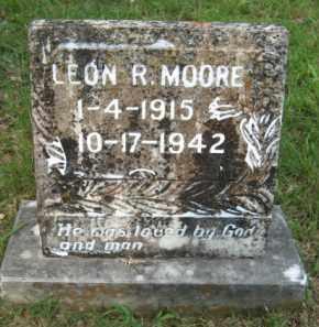 MOORE, LEON R - Scott County, Arkansas | LEON R MOORE - Arkansas Gravestone Photos