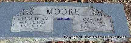 SORRELS MOORE, MELBA DEAN - Scott County, Arkansas | MELBA DEAN SORRELS MOORE - Arkansas Gravestone Photos