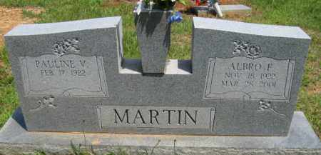MARTIN, ALBRO F - Scott County, Arkansas | ALBRO F MARTIN - Arkansas Gravestone Photos