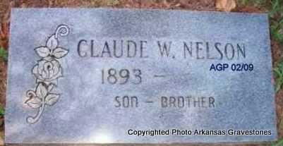 NELSON, CLAUDE W - Scott County, Arkansas   CLAUDE W NELSON - Arkansas Gravestone Photos