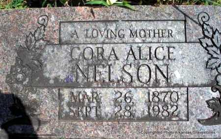 NELSON, CORA ALICE - Scott County, Arkansas   CORA ALICE NELSON - Arkansas Gravestone Photos