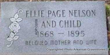 NELSON, ELLIE - Scott County, Arkansas | ELLIE NELSON - Arkansas Gravestone Photos