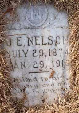 NELSON, J  E  (2ND STONE) - Scott County, Arkansas   J  E  (2ND STONE) NELSON - Arkansas Gravestone Photos