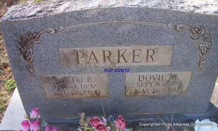 PARKER, OTTO P - Scott County, Arkansas   OTTO P PARKER - Arkansas Gravestone Photos