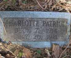 PATRICK, CHARLOTTE - Scott County, Arkansas | CHARLOTTE PATRICK - Arkansas Gravestone Photos