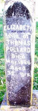POLLARD, ELIZABETH - Scott County, Arkansas | ELIZABETH POLLARD - Arkansas Gravestone Photos