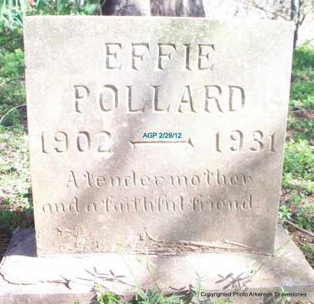 POLLARD, EFFIE (ORIGINAL STONE) - Scott County, Arkansas | EFFIE (ORIGINAL STONE) POLLARD - Arkansas Gravestone Photos