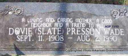 WADE, DOVIE - Scott County, Arkansas | DOVIE WADE - Arkansas Gravestone Photos