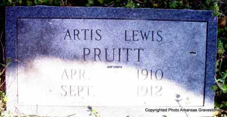 PRUITT, ARTIS LEWIS - Scott County, Arkansas | ARTIS LEWIS PRUITT - Arkansas Gravestone Photos