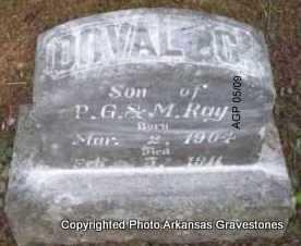 RAY, ORVAL C - Scott County, Arkansas | ORVAL C RAY - Arkansas Gravestone Photos