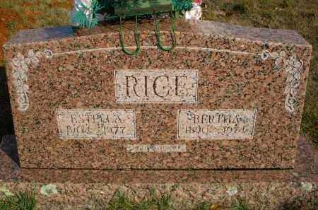 RICE, BERTHA - Scott County, Arkansas | BERTHA RICE - Arkansas Gravestone Photos