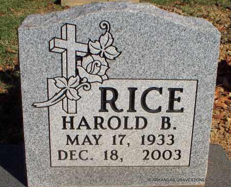 RICE, HAROLD B - Scott County, Arkansas | HAROLD B RICE - Arkansas Gravestone Photos