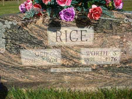 RICE, WORTH S - Scott County, Arkansas | WORTH S RICE - Arkansas Gravestone Photos