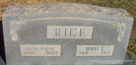 RICE, BIRD T - Scott County, Arkansas | BIRD T RICE - Arkansas Gravestone Photos