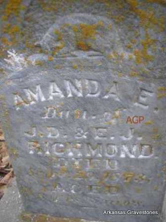 RICHMOND, AMANDA - Scott County, Arkansas   AMANDA RICHMOND - Arkansas Gravestone Photos