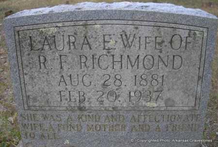 RICHMOND, LAURA E - Scott County, Arkansas | LAURA E RICHMOND - Arkansas Gravestone Photos