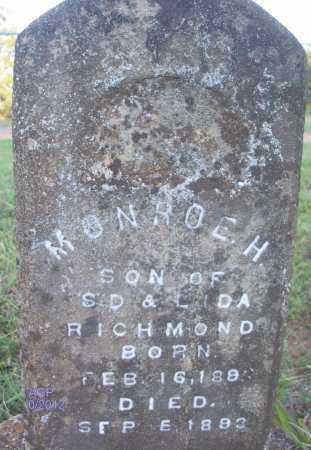 RICHMOND, MONROE H - Scott County, Arkansas | MONROE H RICHMOND - Arkansas Gravestone Photos