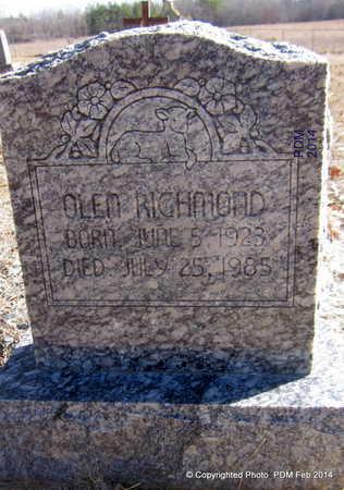 RICHMOND, OLEN - Scott County, Arkansas | OLEN RICHMOND - Arkansas Gravestone Photos