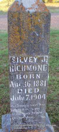 RICHMOND, SILVEY - Scott County, Arkansas | SILVEY RICHMOND - Arkansas Gravestone Photos