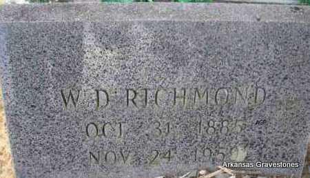 RICHMOND, W D - Scott County, Arkansas | W D RICHMOND - Arkansas Gravestone Photos