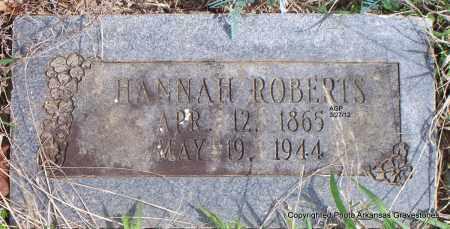ROBERTS, HANNAH - Scott County, Arkansas | HANNAH ROBERTS - Arkansas Gravestone Photos