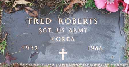 ROBERTS (VETERAN KOR), FRED - Scott County, Arkansas | FRED ROBERTS (VETERAN KOR) - Arkansas Gravestone Photos