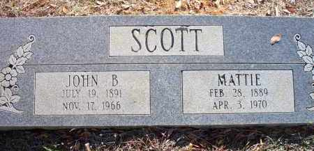 SCOTT, MATTIE - Scott County, Arkansas | MATTIE SCOTT - Arkansas Gravestone Photos