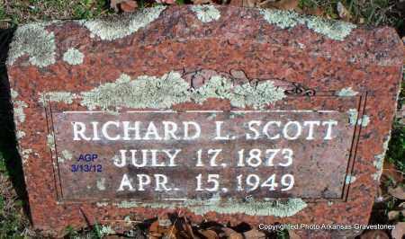 SCOTT, RICHARD L - Scott County, Arkansas | RICHARD L SCOTT - Arkansas Gravestone Photos