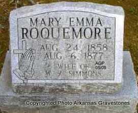 SIMMONS, MARY EMMA - Scott County, Arkansas | MARY EMMA SIMMONS - Arkansas Gravestone Photos