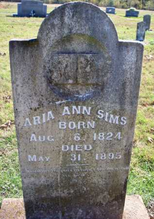 SIMS, ARIA ANN - Scott County, Arkansas   ARIA ANN SIMS - Arkansas Gravestone Photos