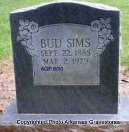 SIMS, BUD - Scott County, Arkansas   BUD SIMS - Arkansas Gravestone Photos