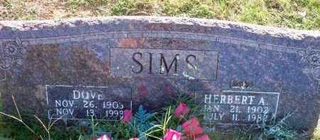 SIMS, DOVE - Scott County, Arkansas | DOVE SIMS - Arkansas Gravestone Photos