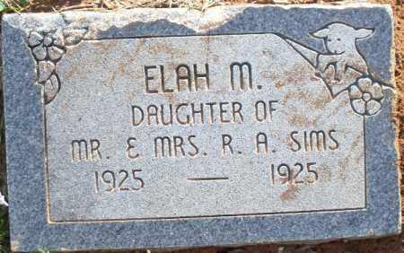 SIMS, ELAH M - Scott County, Arkansas | ELAH M SIMS - Arkansas Gravestone Photos