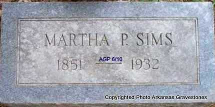 SIMS, MARTHA P - Scott County, Arkansas   MARTHA P SIMS - Arkansas Gravestone Photos