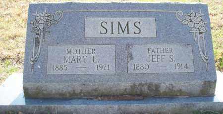 SIMS, MARY E - Scott County, Arkansas | MARY E SIMS - Arkansas Gravestone Photos