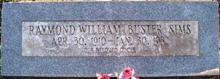 SIMS, RAYMOND WILLIAM  (BUSTER) - Scott County, Arkansas | RAYMOND WILLIAM  (BUSTER) SIMS - Arkansas Gravestone Photos