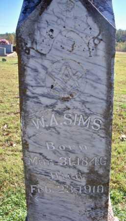 SIMS, W  A - Scott County, Arkansas | W  A SIMS - Arkansas Gravestone Photos