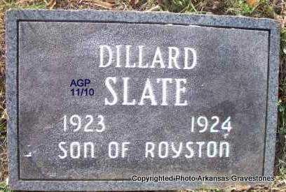 SLATE, DILLARD - Scott County, Arkansas | DILLARD SLATE - Arkansas Gravestone Photos