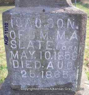 SLATE, ISAC - Scott County, Arkansas | ISAC SLATE - Arkansas Gravestone Photos