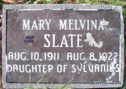 SLATE, MARY MELVINA - Scott County, Arkansas | MARY MELVINA SLATE - Arkansas Gravestone Photos