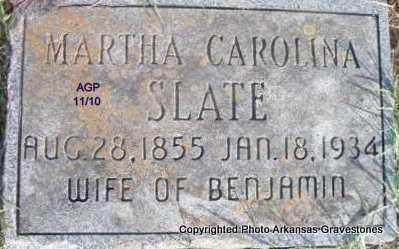 SLATE, MARTHA CAROLINA - Scott County, Arkansas | MARTHA CAROLINA SLATE - Arkansas Gravestone Photos