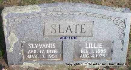SLATE, LILLIE - Scott County, Arkansas | LILLIE SLATE - Arkansas Gravestone Photos